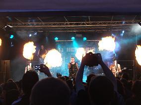 Herzleid Rammstein Coverband stand im Jahr 2008 auf unserer Open Air Bühne